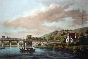 ANTIQUE PRINT: SHILLINGFORD-BRIDGE, BERKS.