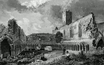 ANTIQUE PRINT: ABBEY OF THE ORDER OF ST. FRANCIS, SLIGO.