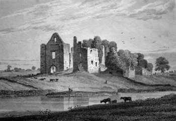 Antique print of County Meath