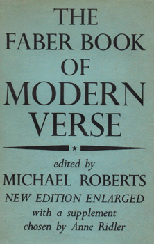 ROBERTS, Michael (William Ernest), 1902-1948 – editor : THE FABER BOOK OF MODERN VERSE.