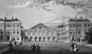 Antique print of the Foundling Hospital