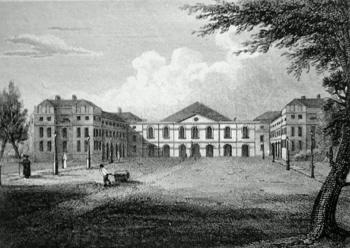 ANTIQUE PRINT: THE FOUNDLING HOSPITAL.