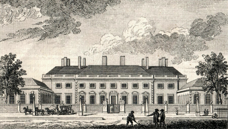 ANTIQUE PRINT: BEDFORD HOUSE.