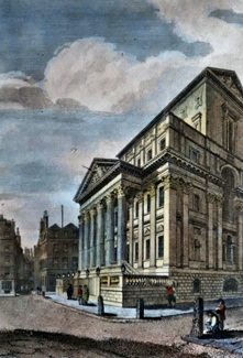 ANTIQUE PRINT: THE MANSION HOUSE, LONDON.