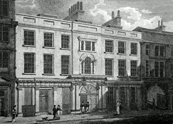 ANTIQUE PRINT: CLOTH WORKER'S HALL, MINCING LANE.