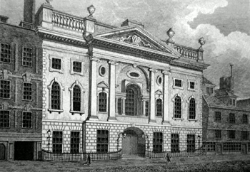 ANTIQUE PRINT: IRONMONGERS HALL.