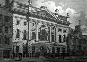ANTIQUE PRINT: IRONMONGER'S HALL, FENCHURCH STREET.