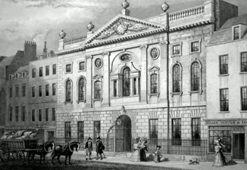 Antique print of Ironmongers' Hall after Thomas Hosmer Shepherd