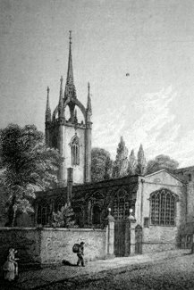 ANTIQUE PRINT: ST. DUNSTAN'S, IN THE EAST.