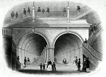 ANTIQUE PRINT: THAMES TUNNEL. ROTHERHITHE.