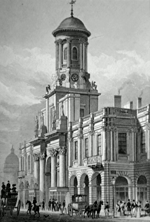ANTIQUE PRINT: ROYAL EXCHANGE, CORNHILL.
