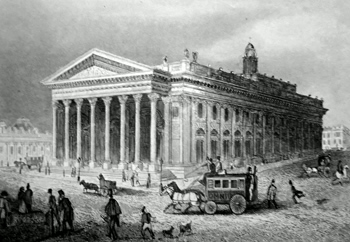 ANTIQUE PRINT: THE NEW ROYAL EXCHANGE.