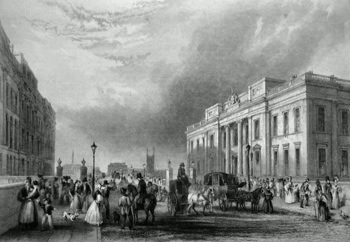 Antique print of Fishmongers' Hall