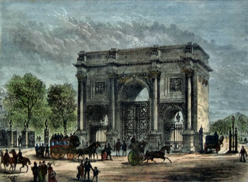 ANTIQUE PRINT: THE MARBLE ARCH.