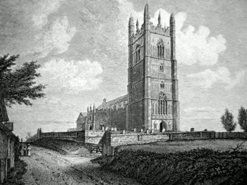 Antique print of St. Mary Redenhall, near Diss