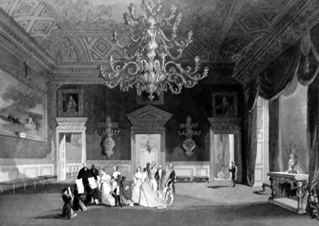 ANTIQUE PRINT: ST. JAMES'S PALACE. BIRTHDAY. DRAWING ROOM.