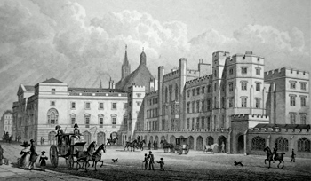ANTIQUE PRINT: THE PARLIAMENT HOUSE, FROM OLD PALACE YARD, WESTMINSTER.