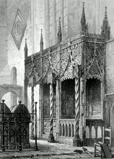 ANTIQUE PRINT: THE TOMB OF THE HOWARDS – ARUNDEL CHURCH.