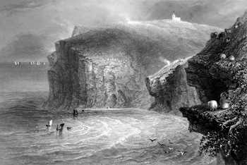 ANTIQUE PRINT: ST. BEES HEAD.