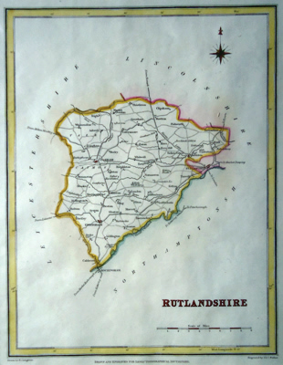 ANTIQUE MAP: RUTLANDSHIRE.
