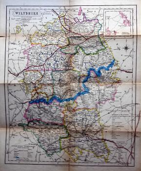 Antique map of Wiltshire