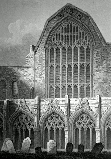 ANTIQUE PRINT: CHAPTER HOUSE, CANTERBURY CATHEDRAL.