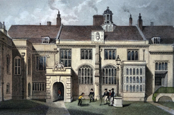 ANTIQUE PRINT: PENSIONER'S HALL, CHARTER HOUSE.