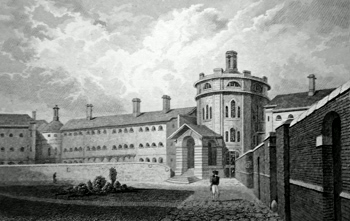 ANTIQUE PRINT: THE GAOL, MAIDSTONE. KENT.