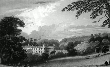 ANTIQUE PRINT: COBHAM HALL. KENT : THE SEAT OF EARL DARNLEY.
