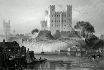 Antique print of Rochester