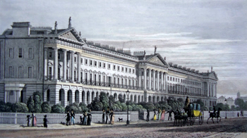 ANTIQUE PRINT: HANOVER TERRACE, REGENT'S PARK. INSCRIBED TO JOHN NASH, ESQ.R THE ARCHITECT OF THIS & OTHER SPLENDID WORKS IN ITS NEIGHBOURHOOD.
