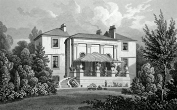 ANTIQUE PRINT: ALBANY COTTAGE, REGENT'S PARK. THE RESIDENCE OF THO.S RAIKES, ESQ.