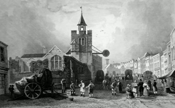Antique print of Colchester, Essex