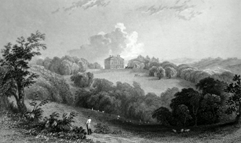 ANTIQUE PRINT: COPPED HALL, ESSEX. THE SEAT OF J. CONYERS ESQ. TO WHOM THIS PLATE IS RESPECTFULLY INSCRIBED.