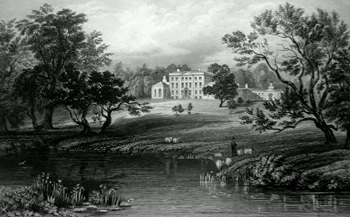 ANTIQUE PRINT: MISTLEY HALL, ESSEX. RESIDENCE OF THE RT. HON.BLE. CHARLES MANNERS SUTTON, SPEAKER OF THE HOUSE OF COMMONS, TO WHOM THIS PLATE IS RESPECTFULLY INSCRIBED.