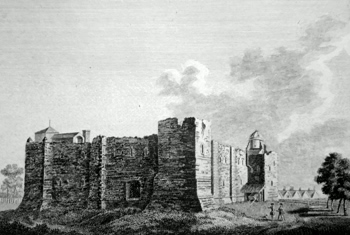 ANTIQUE PRINT: COLCHESTER CASTLE, ESSEX.