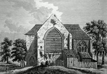 ANTIQUE PRINT: LATTON PRIORY, ESSEX.