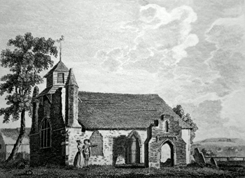 ANTIQUE PRINT: ST. MARY MAGDALENS CHURCH COLCHESTER.