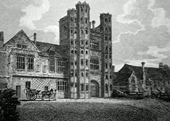 ANTIQUE PRINT: SOUTH FRONT OF LAYER MARNEY TOWER, ESSEX.