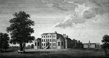 ANTIQUE PRINT: MISTLEY HALL IN ESSEX, THE SEAT OF RICHARD RIGBY, ESQ.R.