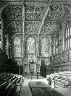 ANTIQUE PRINT: HOUSE OF LORDS.