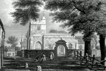 ANTIQUE PRINT: HOLYWELL CHURCH [OXFORD].