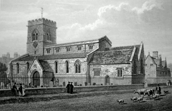 ANTIQUE PRINT: ST. GILES'S CHURCH [OXFORD].