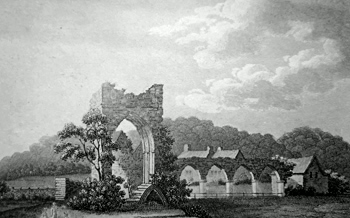 ANTIQUE PRINT: CALDER ABBEY, CUMBERLAND.