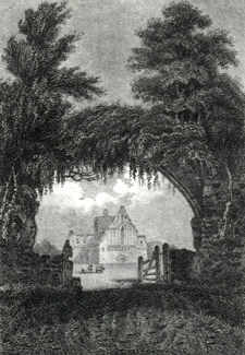 ANTIQUE PRINT: LANERCOST PRIORY, CUMBERLAND.