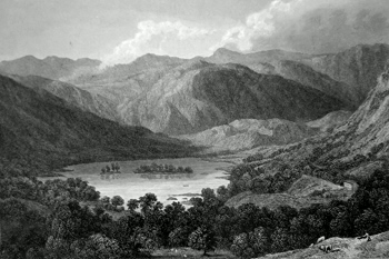 ANTIQUE PRINT: GT. RYDAL LAKE.