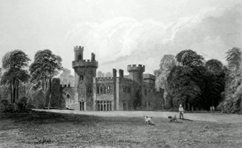 ANTIQUE PRINT: CHILDWALL ABBEY. THE SEAT OF THE MOST NOBLE THE MARQUIS OF SALISBURY.