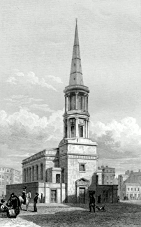 ANTIQUE PRINT: [LIVERPOOL] ST. GEORGE'S CHURCH.