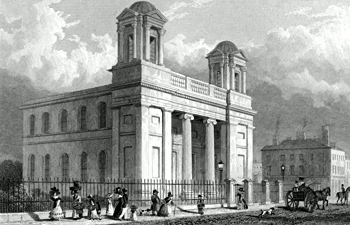 ANTIQUE PRINT: ST. ANDREW'S, SCOTCH KIRK, RODNEY STREET. TO JOHN FOSTER, ESQ. TO WHOSE DISTINGUISHED ARCHITECTURAL TALENTS LIVERPOOL IS INDEBTED FOR THIS & SO MANY OTHER SPLENDID PUBLIC BUILDINGS, THIS PLATE IS RESPECTFULLY INSCRIBED.