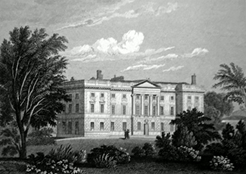 ANTIQUE PRINT: ALLERTON HALL, LANCASHIRE.